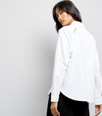 JDY White Long Sleeve Shirt New Look