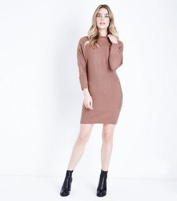 JDY Pink Long Sleeve Jumper Dress New Look