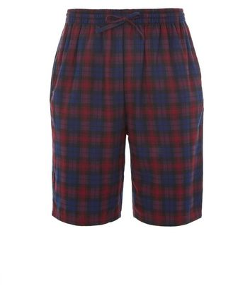 Red Check Shorts New Look