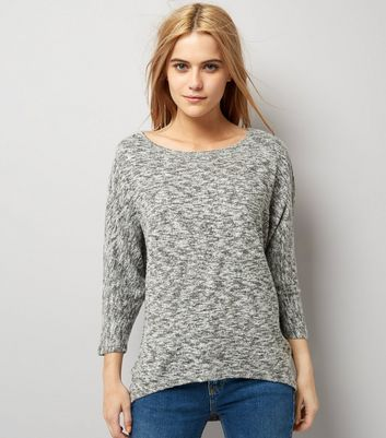 Grey Batwing Sleeve Top New Look