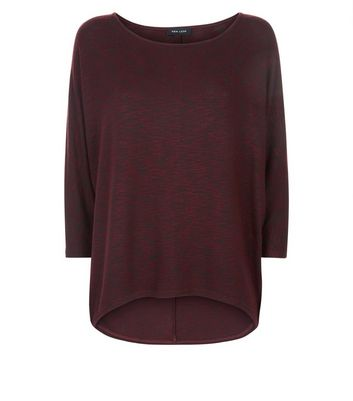 Burgundy Batwing Sleeve Fine Knit Top New Look