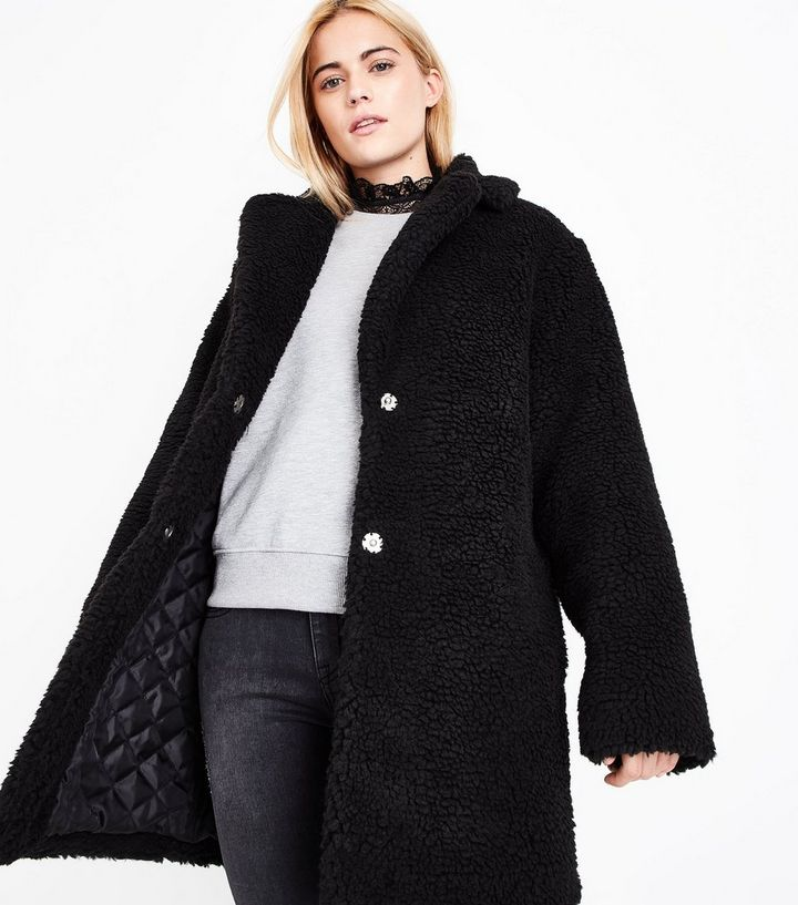fresh styles reasonable price new photos Black Faux Fur Teddy Coat Add to Saved Items Remove from Saved Items