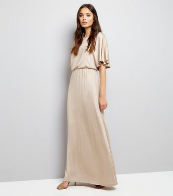 Mela Gold Kimono Sleeve Maxi Dress New Look