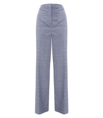 Grey Check Wide Leg Trousers New Look