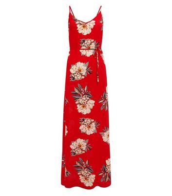 AX Paris Red Floral Maxi Dress New Look