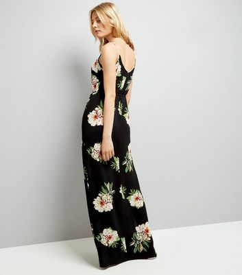AX Paris Black Floral Maxi Dress New Look