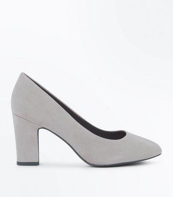 Wide Fit Grey Comfort Flex Court Shoes New Look