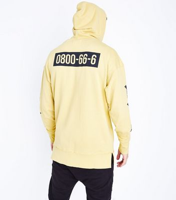 Yellow Misled Sleeve Print Sweatshirt New Look