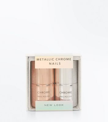 Duo Chrome Nail Polish Set New Look