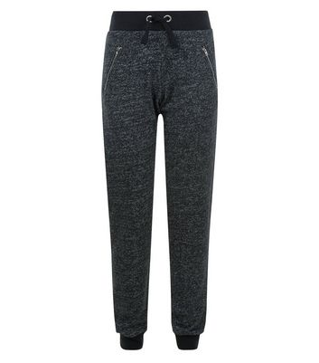 Teens Grey Zip Joggers New Look