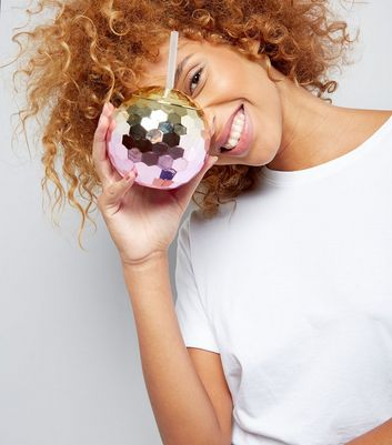 Pink Metallic Ombre Disco Ball Cup New Look