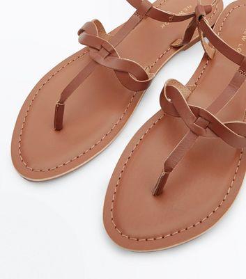 tan-leather-plait-strap-toe-post-sandals