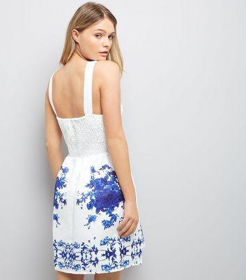AX Paris White Embossed Floral Print Dress New Look