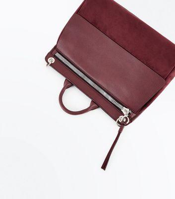 Burgundy Satchel Shoulder Bag New Look