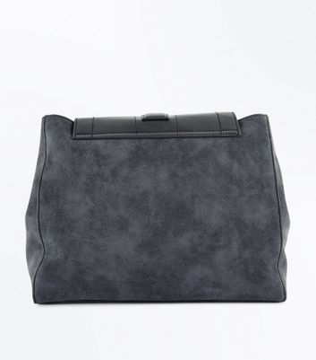 Black Structured Shoulder Bag New Look