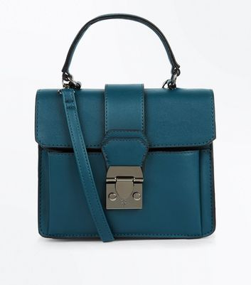 Teal Top Handle Bag New Look