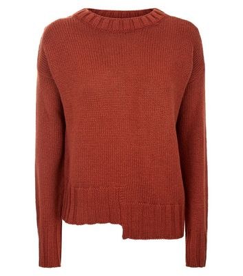 Rust Step Hem Jumper New Look