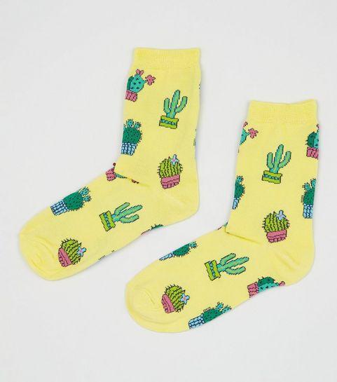 1a99181e8 Yellow Cactus Pattern Socks · Yellow Cactus Pattern Socks ...