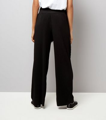 Loving This Black Pleated Tie Waist Trousers New Look