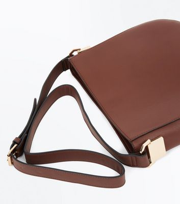 Dark Brown Bucket Bag New Look
