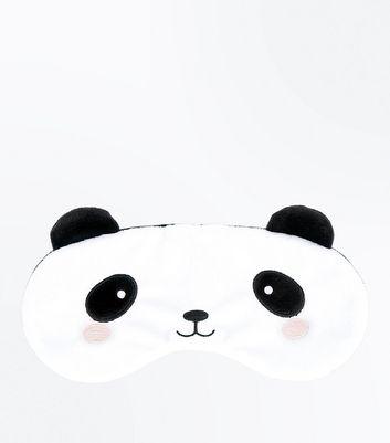 White Fluffy Panda Eye Mask New Look