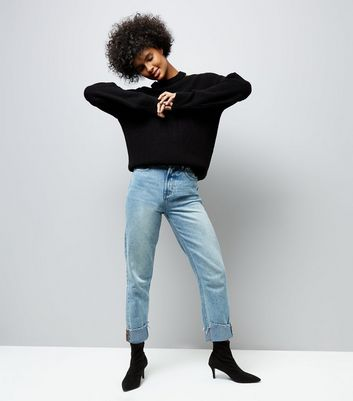 Black Cut Out Neck Jumper New Look