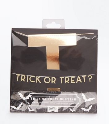 Gold Halloween Trick Or Treat Bunting New Look