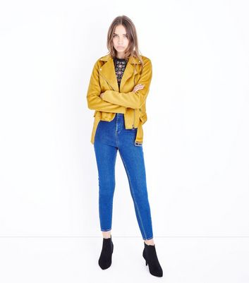Tall Blue High Waist Super Skinny Jeans New Look