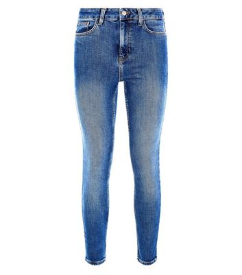 Blue Rinse Wash High Waist Skinny Hallie Jeans New Look