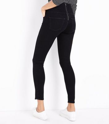Black Hook and Eye High Waist Skinny Yazmin Jeans New Look
