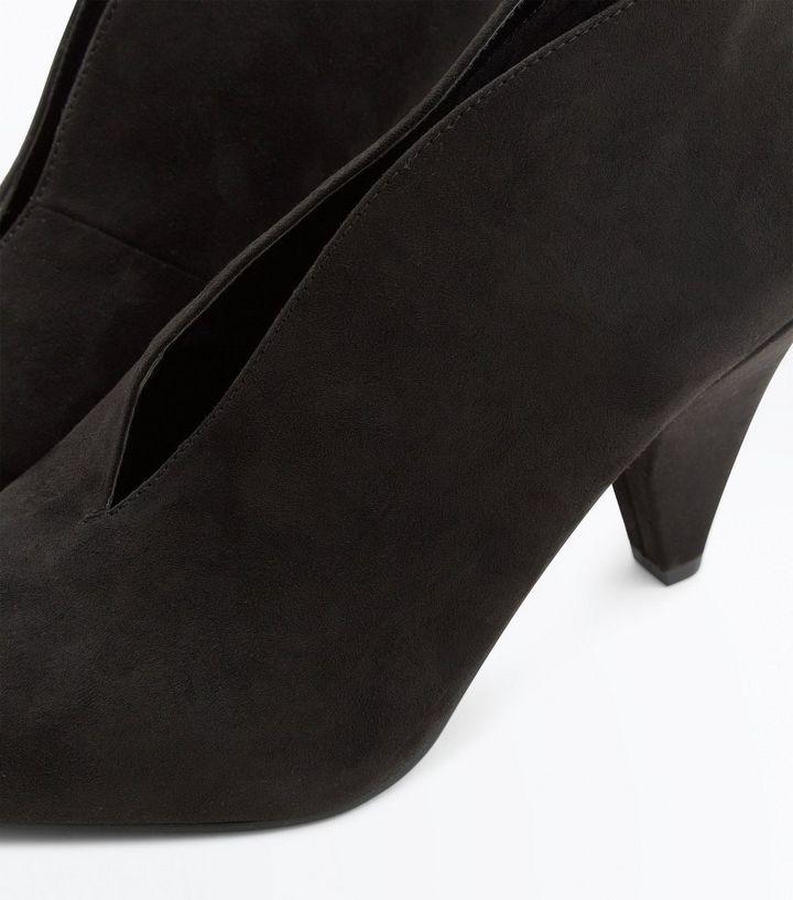 636b567c7ccd ... Black Suedette V Front Shoe Boot. ×. ×. ×. VIDEO Shop the look