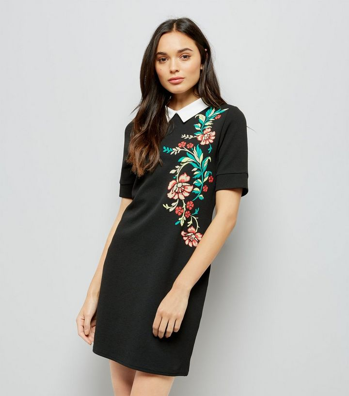 complete in specifications good quality top-rated Black Floral Embroidered Tunic Dress Add to Saved Items Remove from Saved  Items