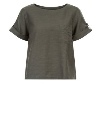 Apricot Olive Green Short Sleeve Top New Look