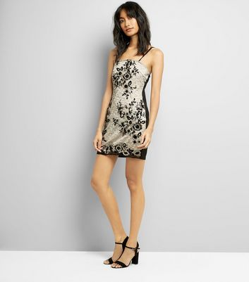 Parisian Black Floral Lace Bodycon Dress New Look