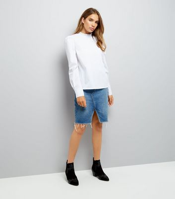 White Frill Neck Blouse New Look