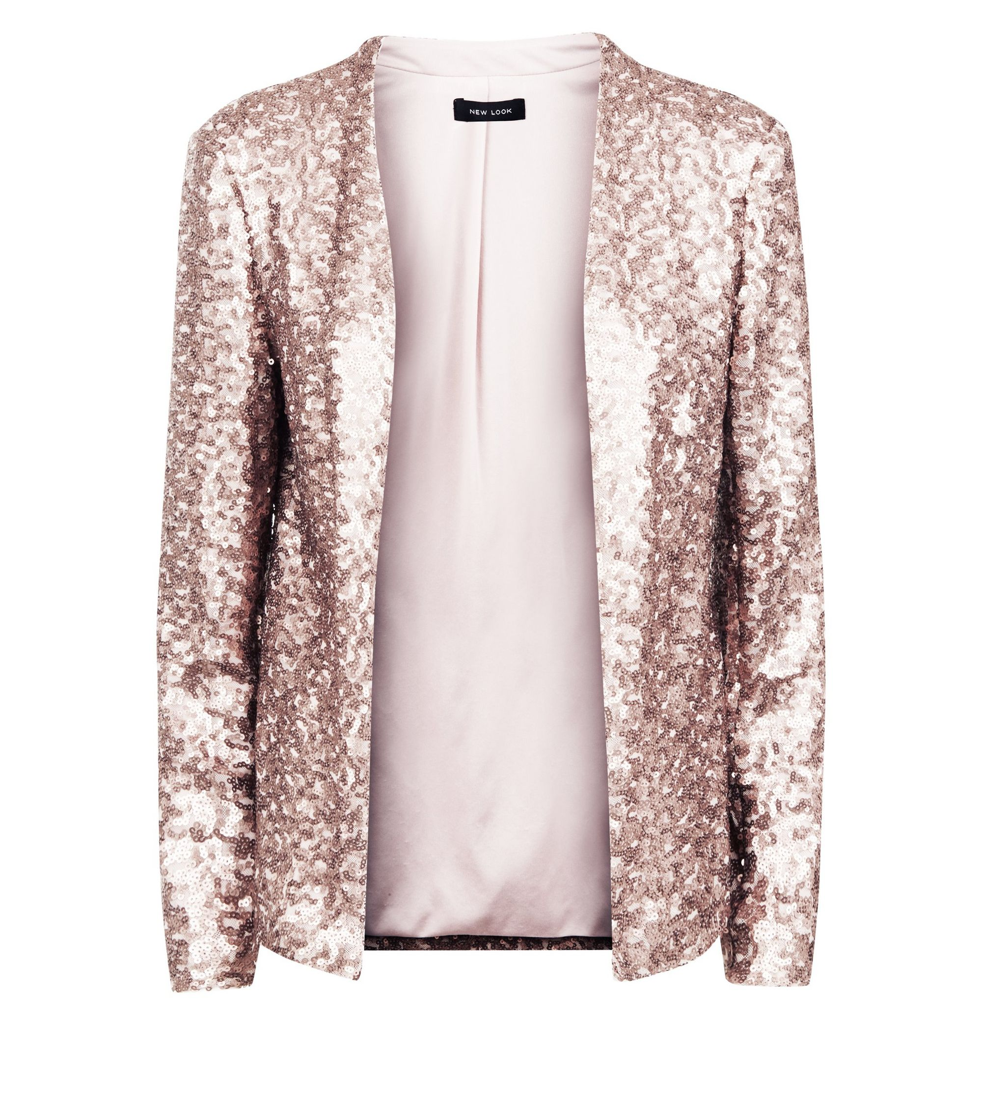 buying new half price order online New Look Rose Gold Sequin Blazer at £34.99 | love the brands
