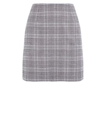 Brown Prince of Wales Check Mini Skirt New Look