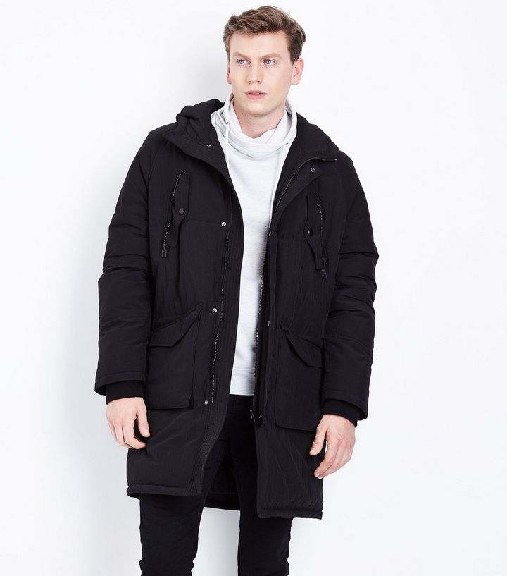 12750e3a18c Black Longline Puffer Jacket Add to Saved Items Remove from Saved Items