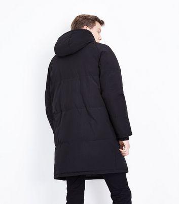 Black Longline Puffer Jacket New Look