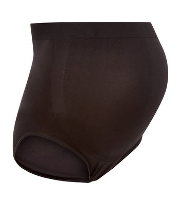 Maternity Black Seamless Over Bump Briefs
