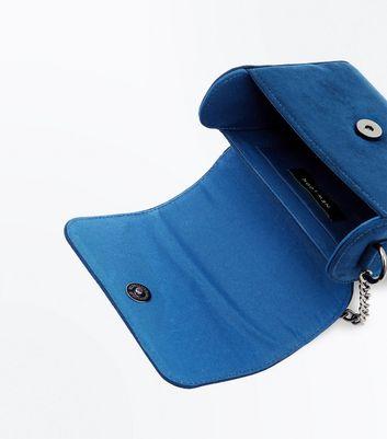 Teal Embellished Curved Shoulder Bag New Look