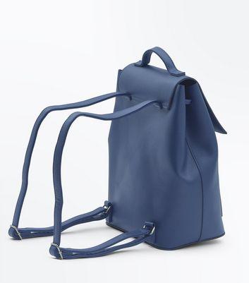 Teal Drawstring Pocket Front Backpack New Look
