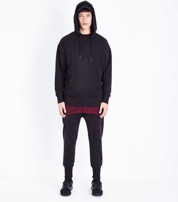 Black Graphic Back Print Hoodie New Look
