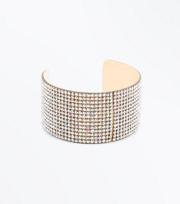 Gold Diamante Cuff New Look