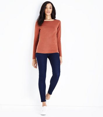 Tall Rust Crew Neck Long Sleeve Top New Look