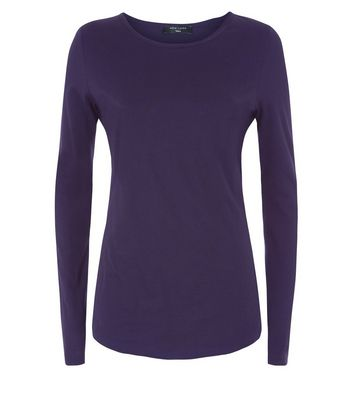 Tall Navy Long Sleeve Crew Neck Top New Look