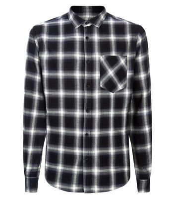 Black Ombre Check Shirt New Look