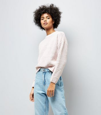 Pale Pink Chenille Jumper New Look