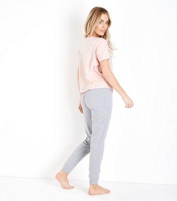 Petite Pink You Guac My Wold Slogan Pyjama Set New Look