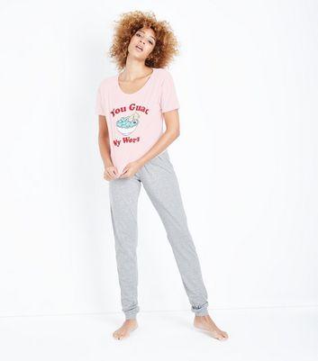 Tall Pink You Guac My World Slogan Pyjama Set New Look